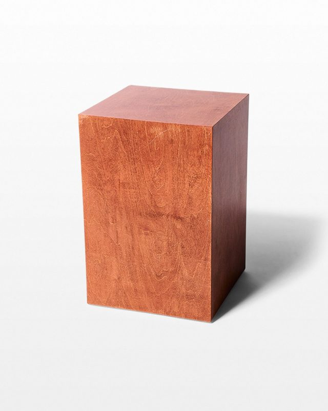 "Front view of Walden Chestnut Wood 18"" Pedestal"