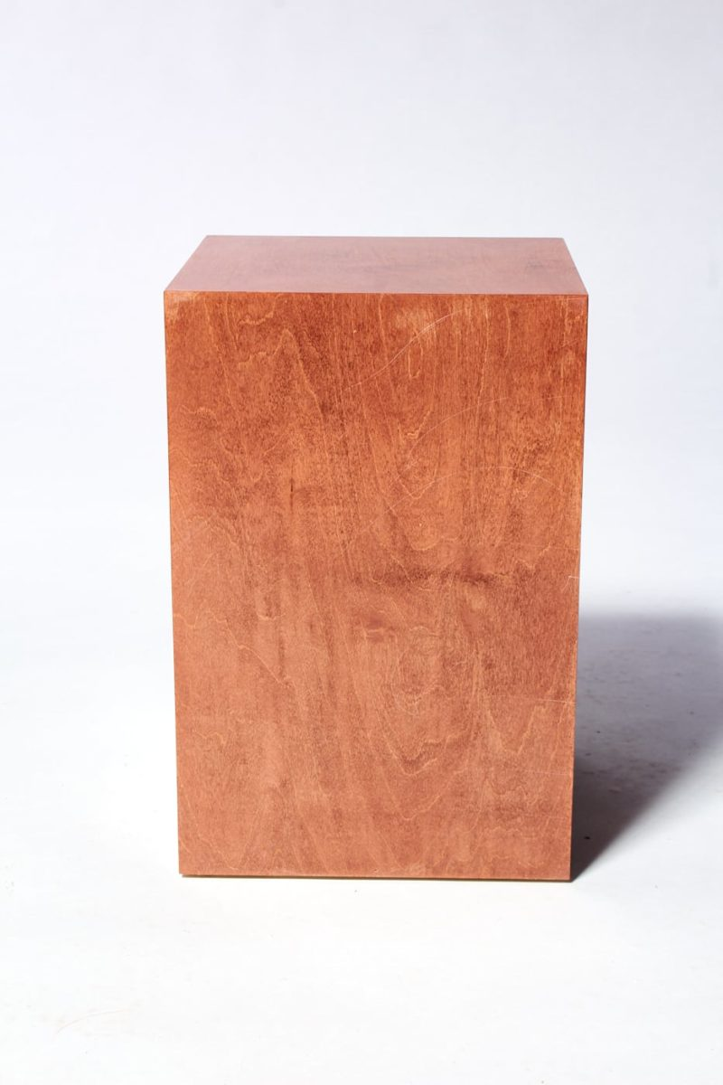 "Alternate view 2 of Walden Chestnut Wood 18"" Pedestal"