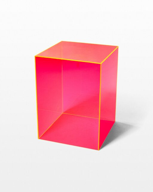 Front view of Rad Display Cube Pedestal