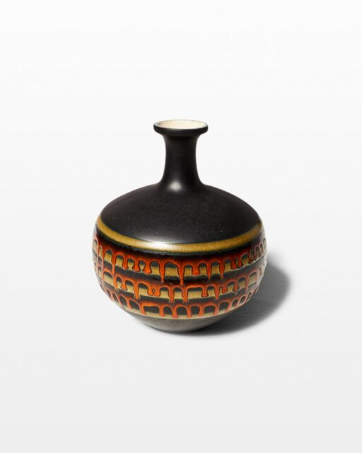 Front view of Drip Pottery Vase