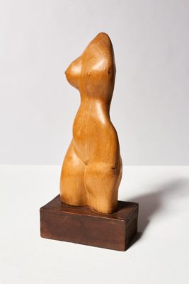 Alternate view 3 of Bette Wooden Female Sculpture