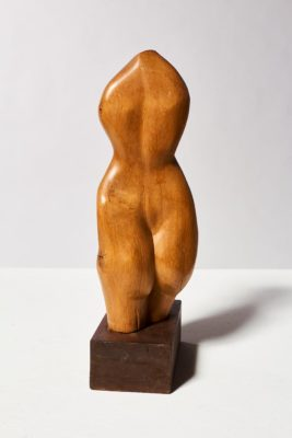 Alternate view 4 of Bette Wooden Female Sculpture
