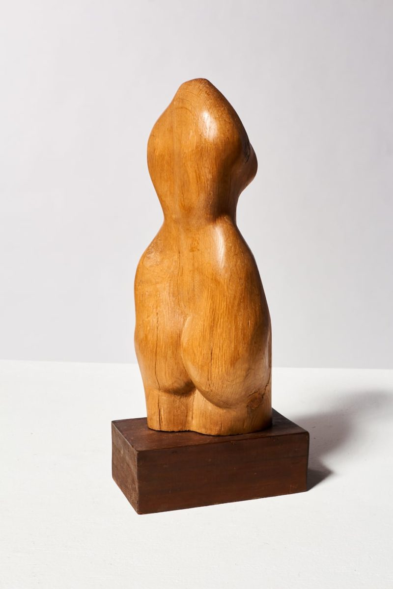 Alternate view 5 of Bette Wooden Female Sculpture
