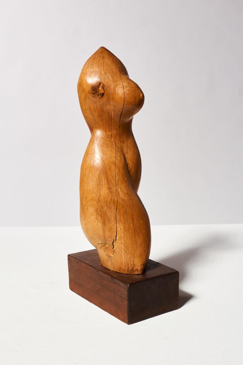 Alternate view 6 of Bette Wooden Female Sculpture