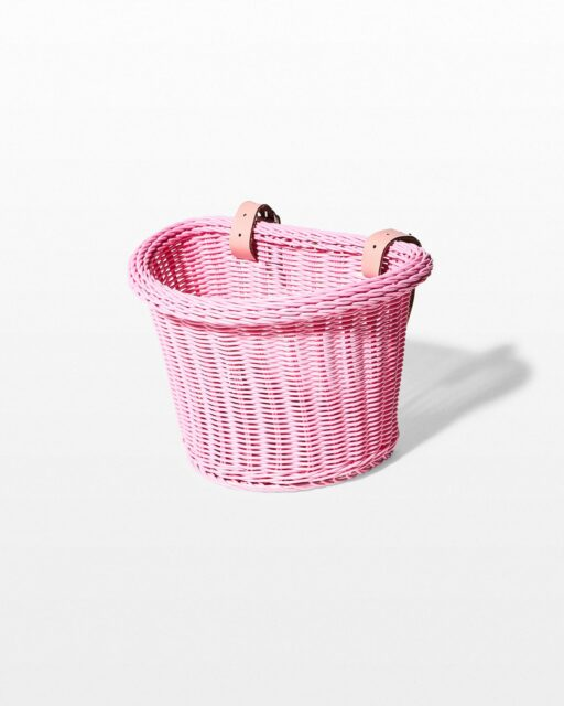Front view of Pink Bicycle Basket