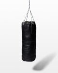Front view thumbnail of Clay Black Leather Punching Bag