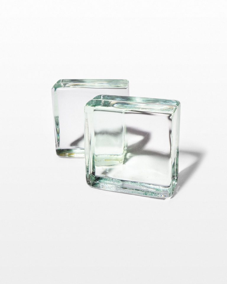 Front view of Bloc Glass Bookend Object