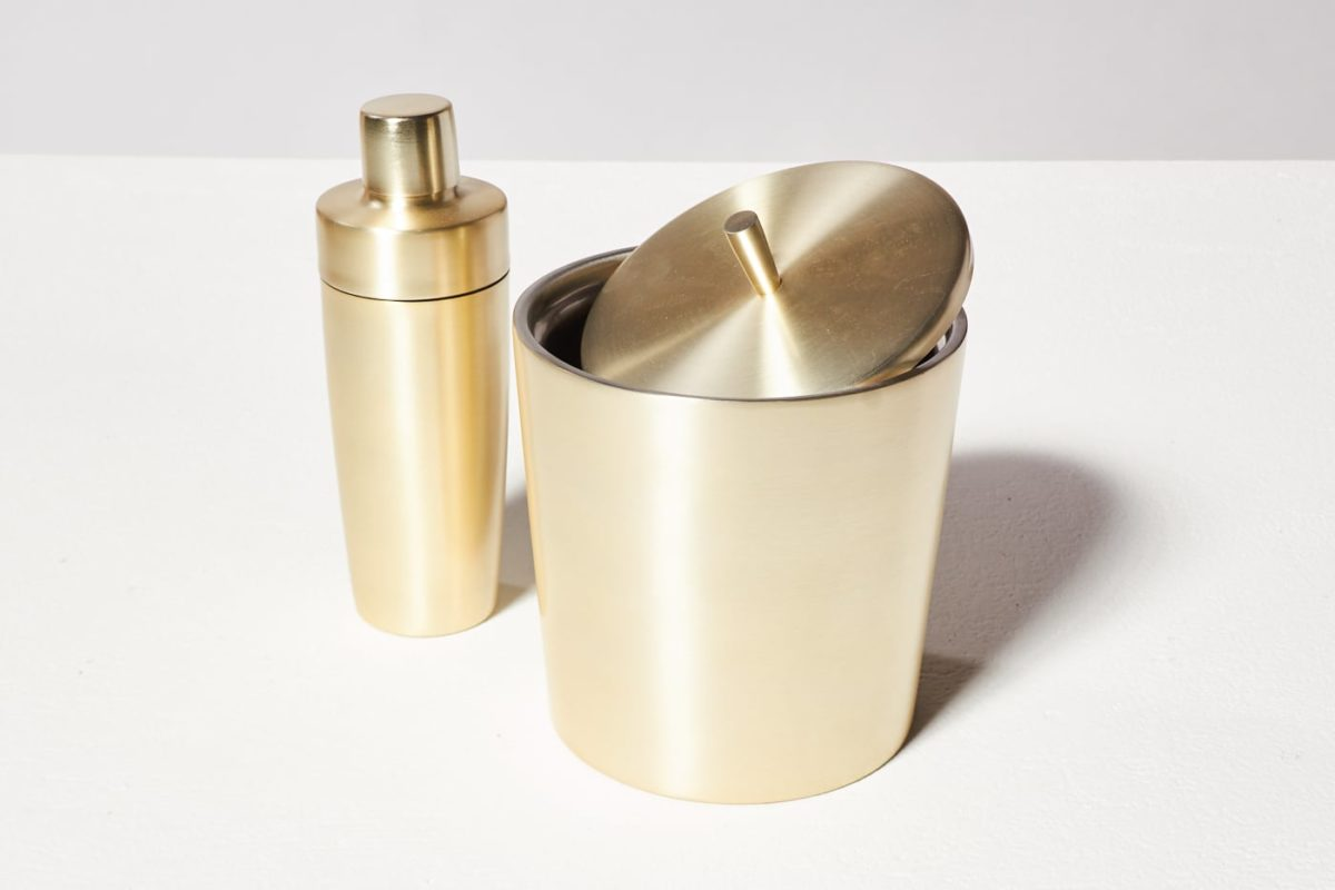 Alternate view 2 of Champagne Gold Shaker and Ice Bucket Duo