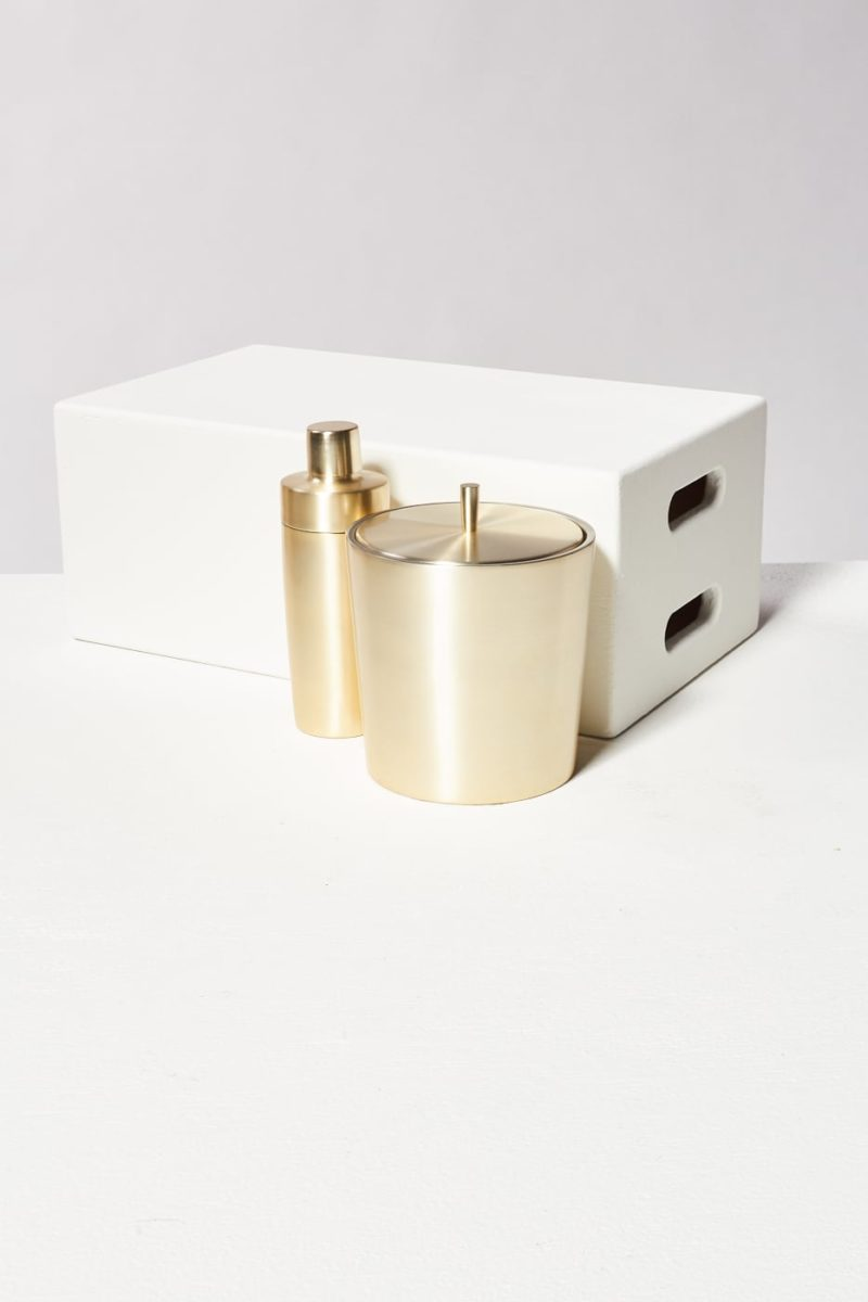 Alternate view 1 of Champagne Gold Shaker and Ice Bucket Duo