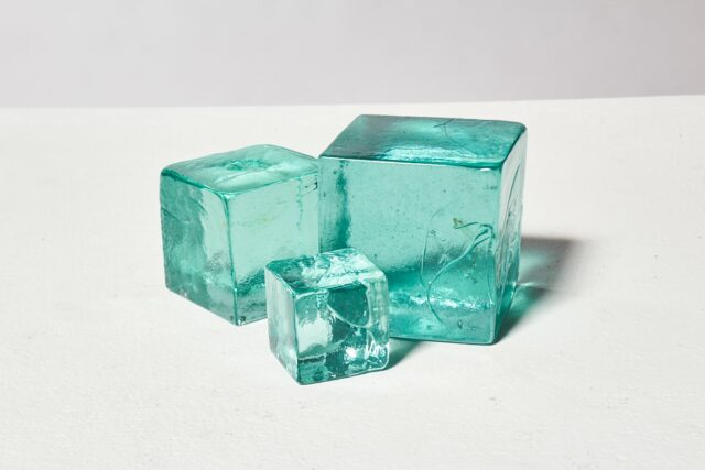 Alternate view 1 of Decorative Recycled Glass Cube Trio