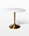 Front view thumbnail of Casey White Marble Tulip Dining Table