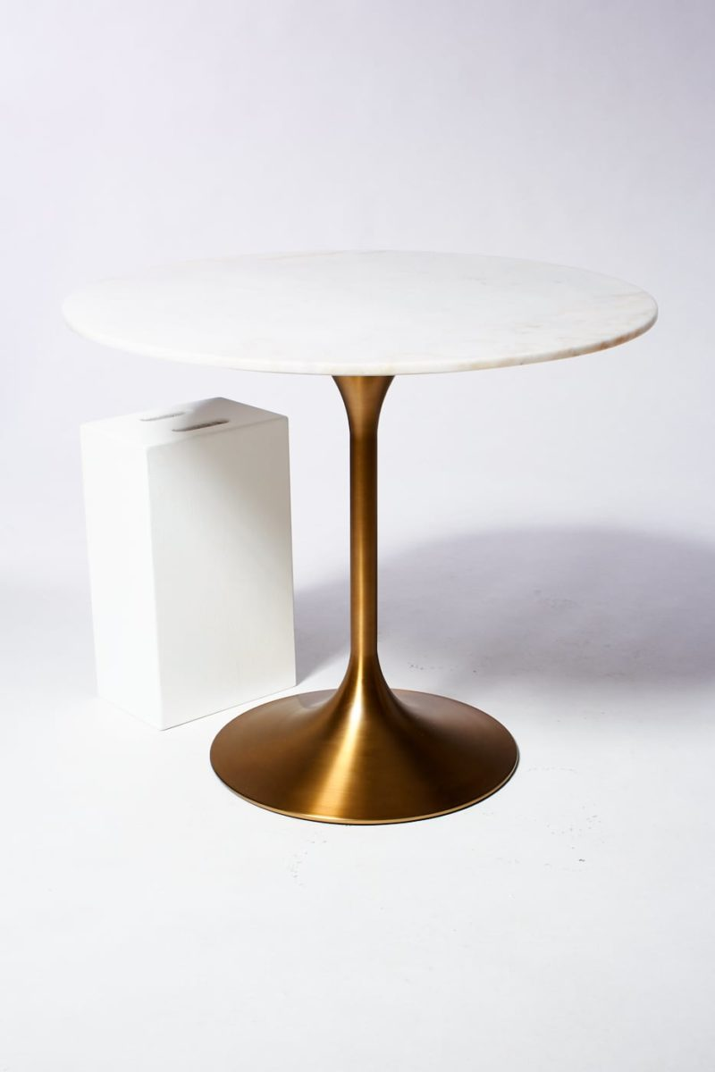 Alternate view 2 of Casey White Marble Tulip Dining Table