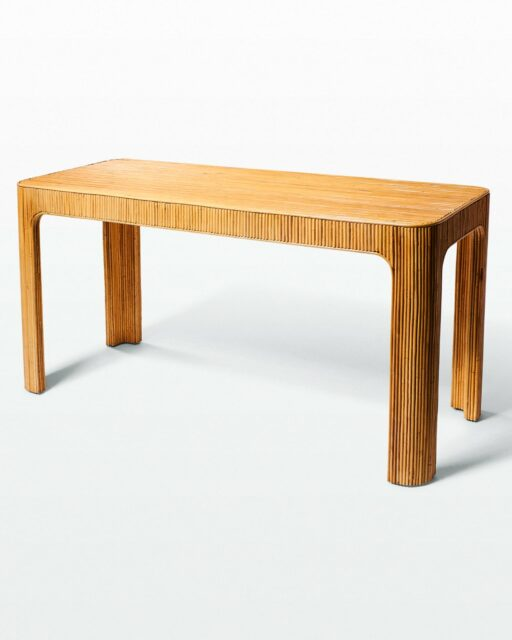 Front view of Salton Rattan Console Table Desk