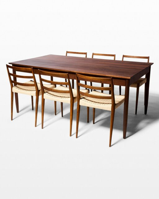 Front view of Elias and Magnus Dining Table and Chair Set