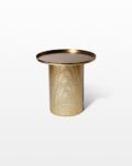 Front view thumbnail of Carey Brushed Brass End Table