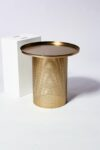 Alternate view thumbnail 3 of Carey Brushed Brass End Table
