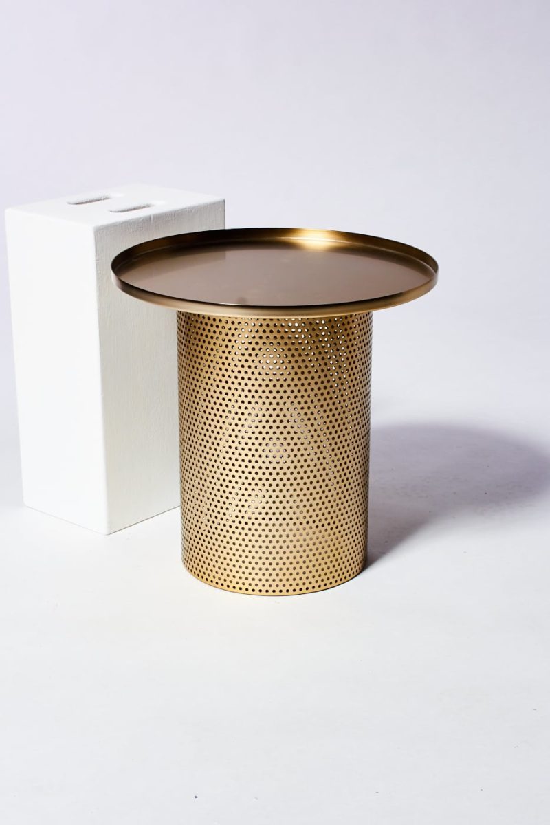Alternate view 3 of Carey Brushed Brass End Table
