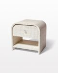 Front view thumbnail of Amerie Textured Linen Side Table Nightstand