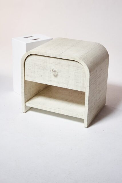 Alternate view 2 of Amerie Textured Linen Side Table Nightstand
