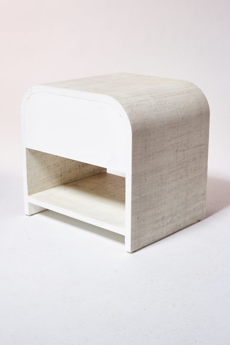 Alternate view 4 of Amerie Textured Linen Side Table Nightstand