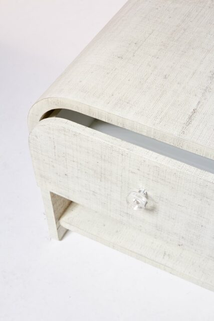 Alternate view 1 of Amerie Textured Linen Side Table Nightstand