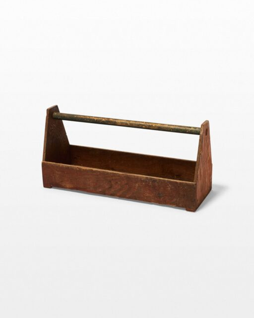 Front view of Finch Wooden Toolbox