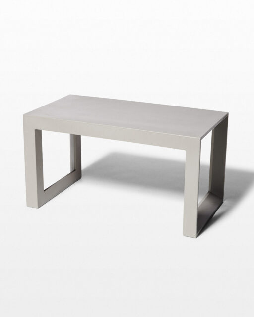 Front view of Molded Taupe Acrylic Frame Bench