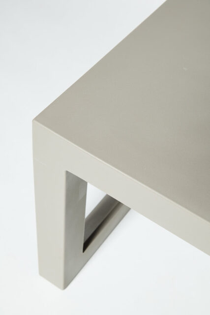 Alternate view 2 of Molded Taupe Acrylic Frame Bench