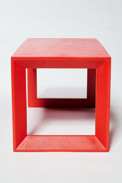 Alternate view 2 of Molded Red Acrylic Frame Bench