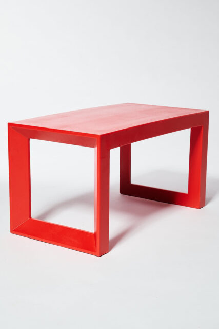 Alternate view 3 of Molded Red Acrylic Frame Bench