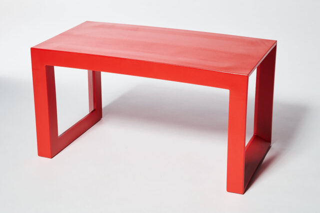 Alternate view 4 of Molded Red Acrylic Frame Bench