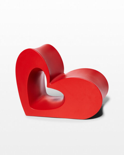 Front view of Cupid Heart Chair