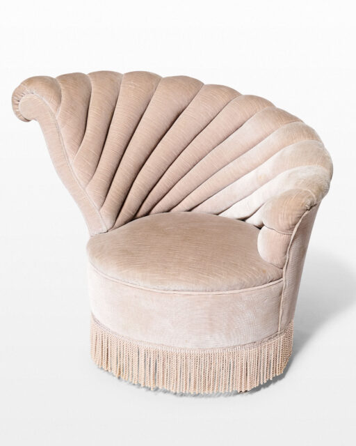 Front view of Vanessa Left Facing Velvet Shell Chair
