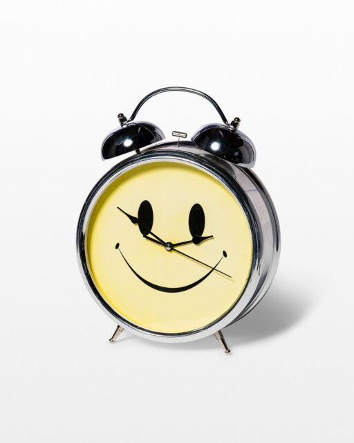 Front view of Oversized Smiley Face Alarm Clock
