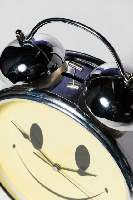 Alternate view 1 of Oversized Smiley Face Alarm Clock