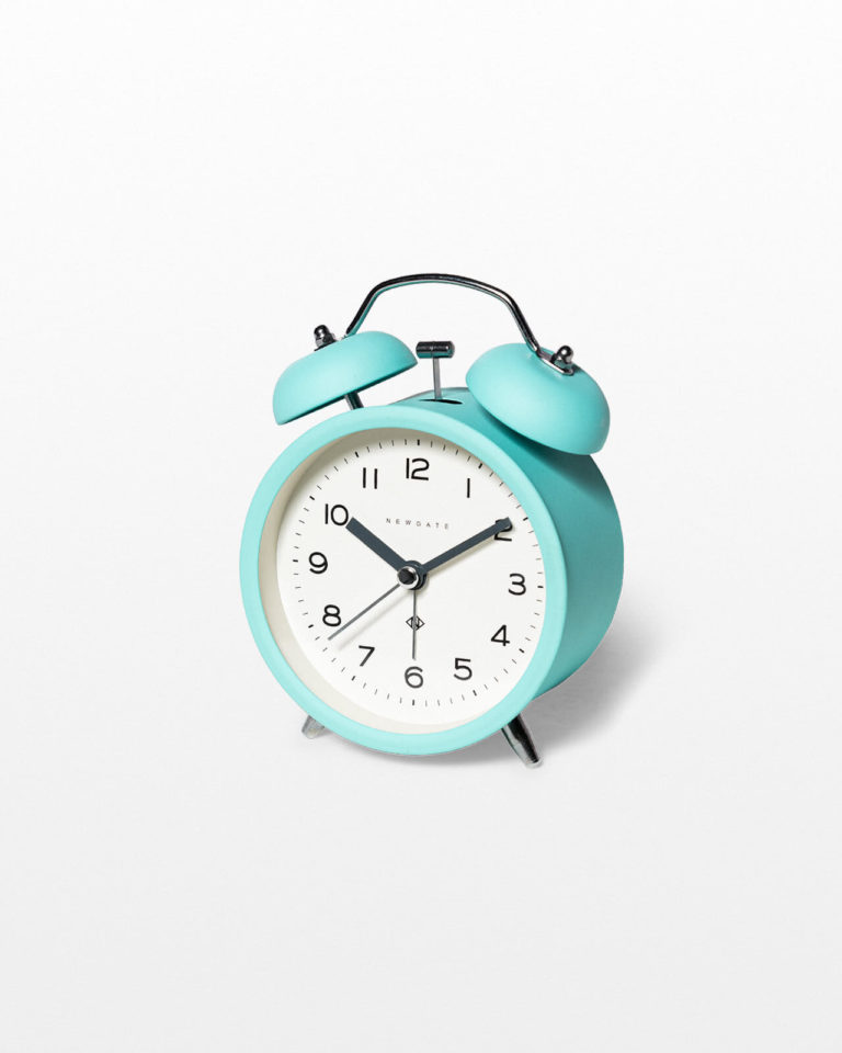 Front view of Tam Teal Alarm Clock