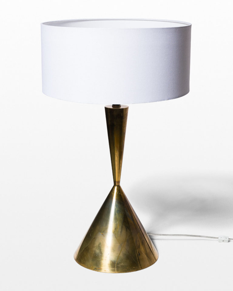 Front view of Jacar Brass Totem Table Lamp