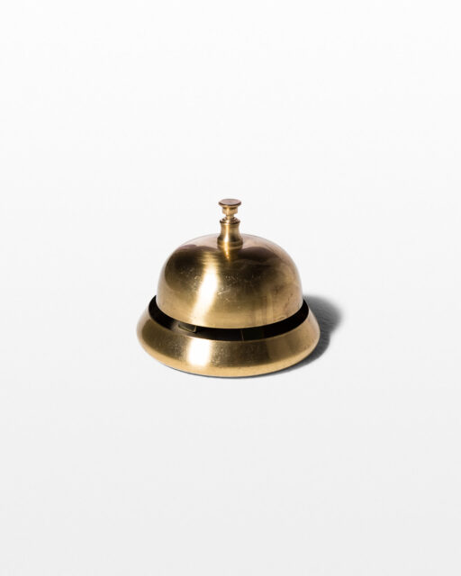 Front view of Giles Brass Tabletop Reception Bell