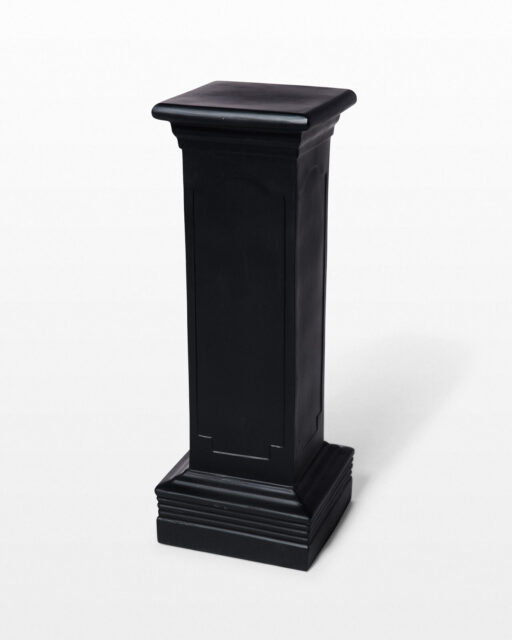 Front view of Dibs Black Pedestal