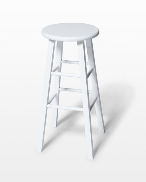 "Front view of White 29"" Studio Stool"