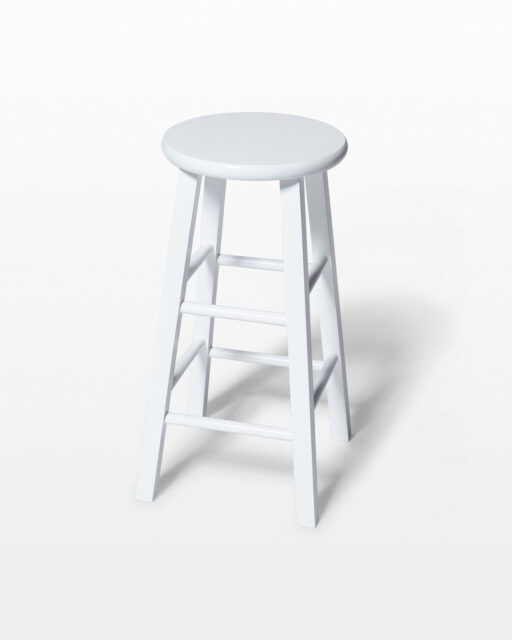 "Front view of White 24"" Studio Stool"