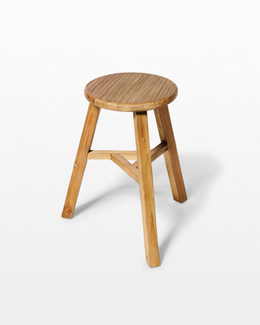 "Front view of Stowe 19"" Pine Tripod Stool"