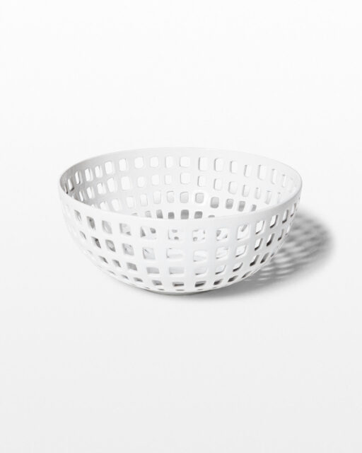 Front view of Peek White Ceramic Bowl