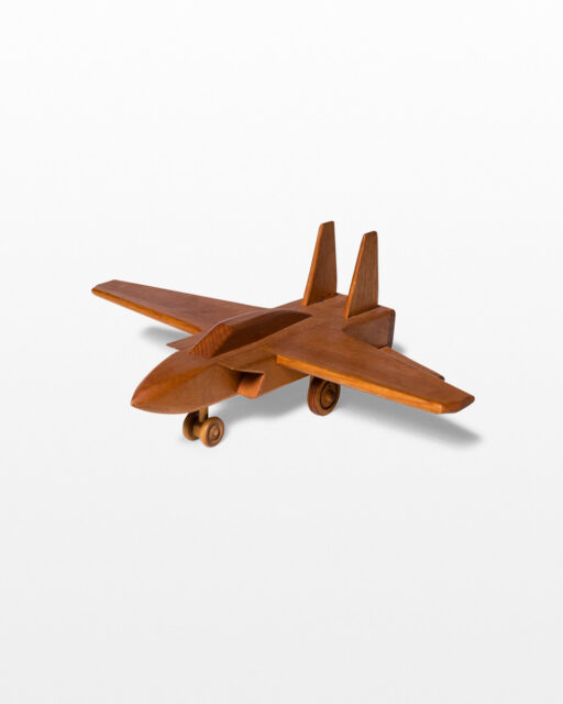 Front view of Miller Wooden Jet Plane