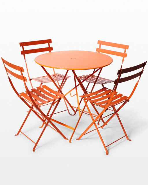 Front view of Citra Folding Table and 4 Chairs Set