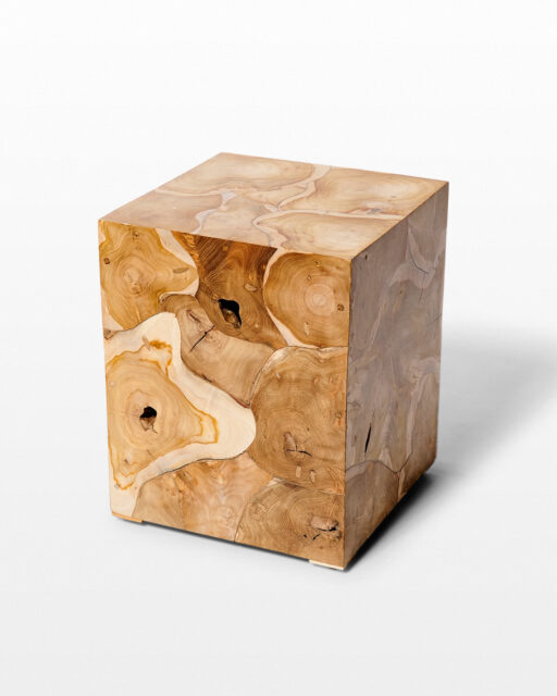 Front view of Arapo Teak Root Side Table