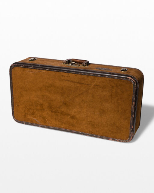 Front view of Lugano Suede Suitcase
