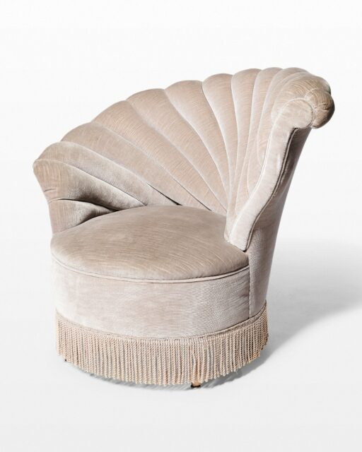 Front view of Vanessa Right Facing Velvet Shell Chair