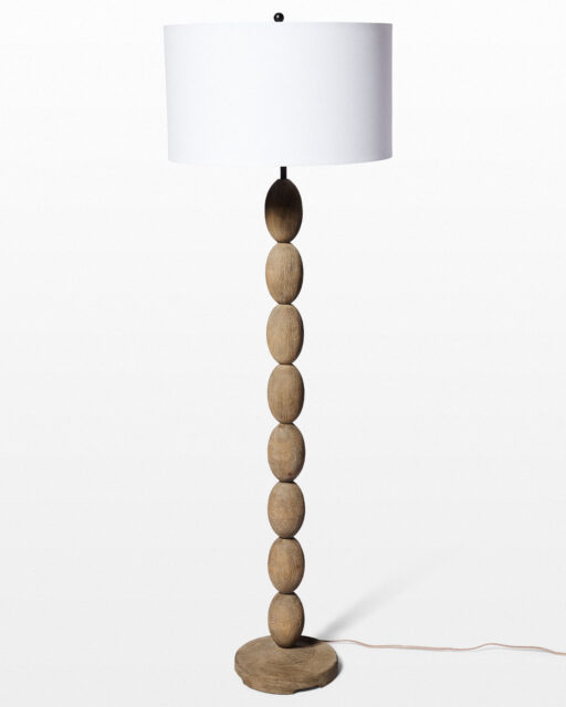 Front view of Andes Braid Floor Lamp