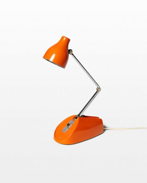 Front view of Flow Adjustable Orange Task Lamp